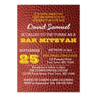 Convite de Mitzvah do bar de ouro de Footbal