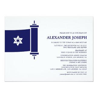 Convite de Mitzvah do bar de Torah Convite 13.97 X 19.05cm