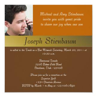 Convite de Mitzvah do bar do tom da terra