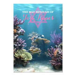 Convite de Mitzvah do bastão do aquário