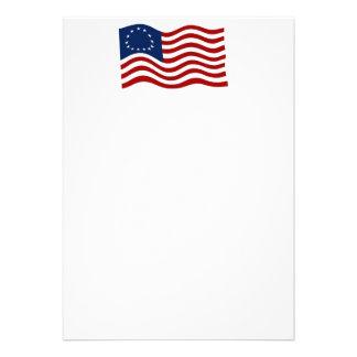 Convite de ondulação da bandeira 2 de Betsy Ross