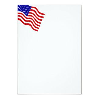 Convite de ondulação da bandeira americana