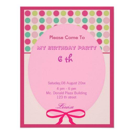 Convite do aniversário