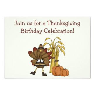 Convite do aniversário da acção de graças -