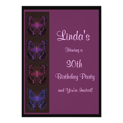 Convite do aniversário da borboleta