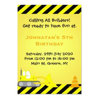 Convite do aniversário da construção da escavadora
