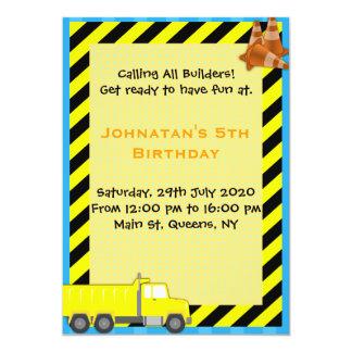 Convite do aniversário da construção do caminhão