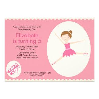 Convite do aniversário da dança da bailarina