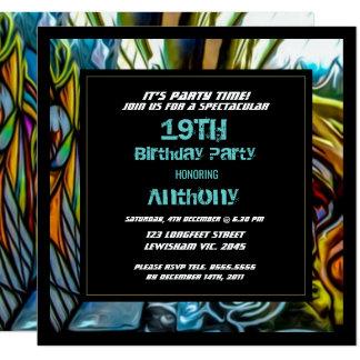 Convite do aniversário da estrada dos grafites