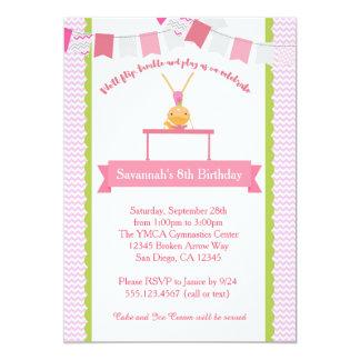 Convite do aniversário da ginástica das meninas