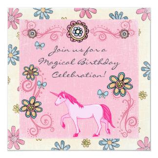 Convite do aniversário da menina mágica do