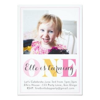 convite do aniversário da menina primeiro