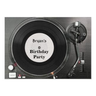 Convite do aniversário da plataforma giratória do