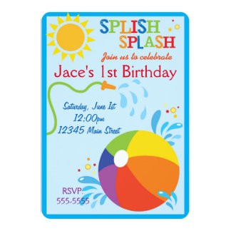 Convite do aniversário da praia