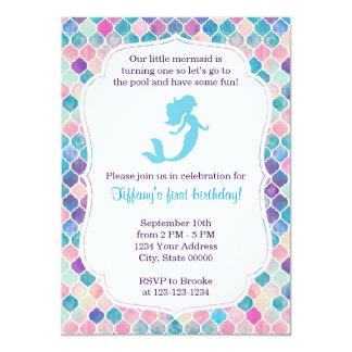 Convite do aniversário da sereia