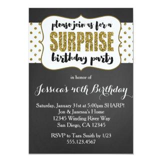 Convite do aniversário da surpresa