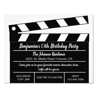 Convite do aniversário da válvula do filme do