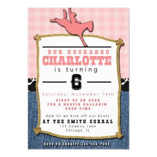 Convite do aniversário da vaqueira