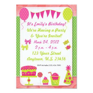 Convite do aniversário das meninas