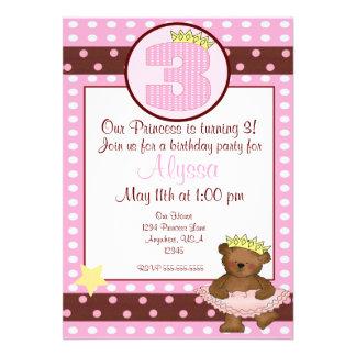 Convite do aniversário de 3 anos das meninas do ur