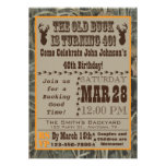 Convite do aniversário de 40 anos da caça com Camo