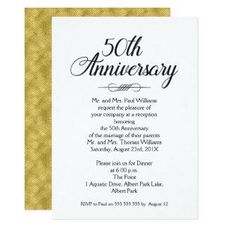 convite do aniversário de casamento da caligrafia