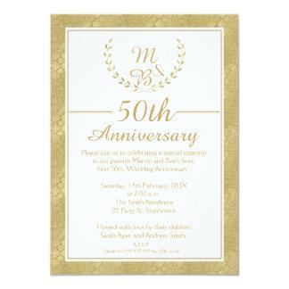 Convite do aniversário de casamento da grinalda