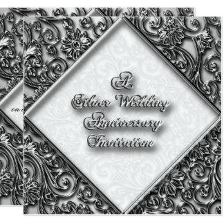 Convite do aniversário de casamento de prata