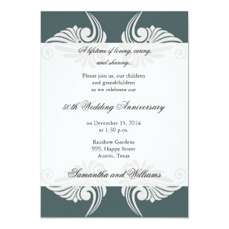 Convite do aniversário de casamento do clássico