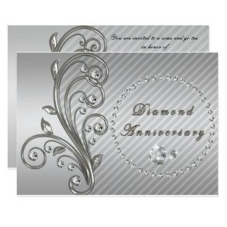 Convite do aniversário de casamento do diamante