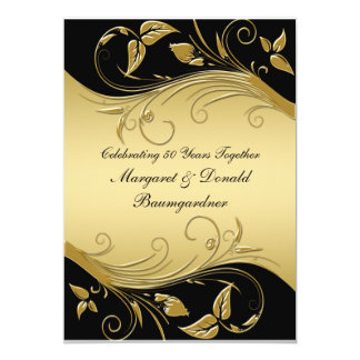 Convite do aniversário de casamento do vintage