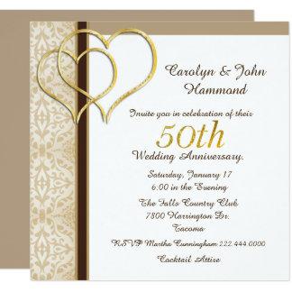 Convite do aniversário de casamento dos corações