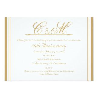 Convite do aniversário de casamento dos monogramas