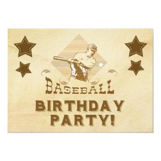 Convite do aniversário do basebol do vintage