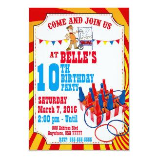 Convite do aniversário do carnaval