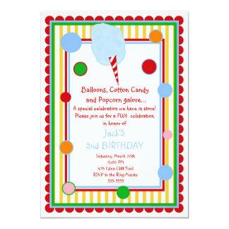 Convite do aniversário do carnaval do circo do