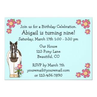 Convite do aniversário do cavalo para meninas