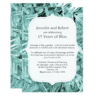 Convite do aniversário do cristal da cerceta 15o