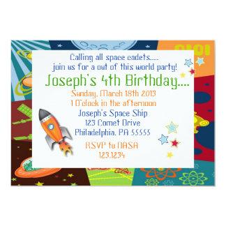 Convite do aniversário do espaço
