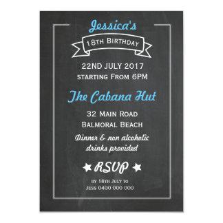 Convite do aniversário do estilo do quadro