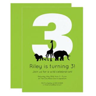 Convite do aniversário do jardim zoológico