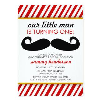 Convite do aniversário do menino do bigode
