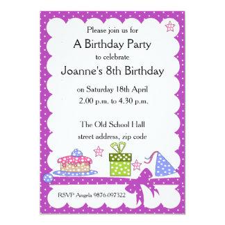 Convite do aniversário do miúdo das bolinhas