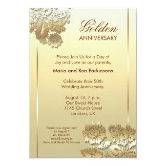 convite do aniversário do ouro 50