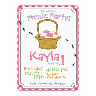 Convite do aniversário do partido do piquenique