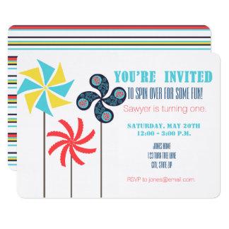 Convite do aniversário do Pinwheel {carnaval}