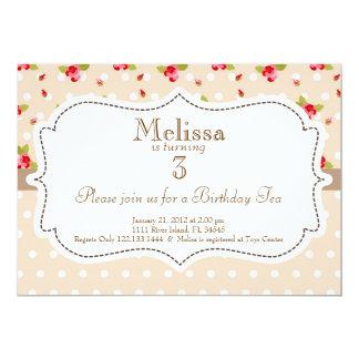 Convite do aniversário do tea party do jardim