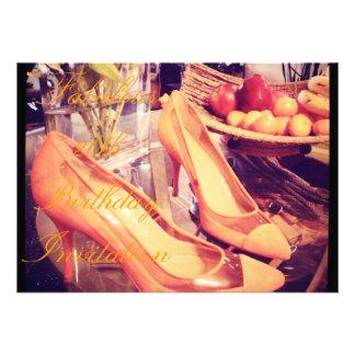 Convite do aniversário dos calçados fabulosos do p