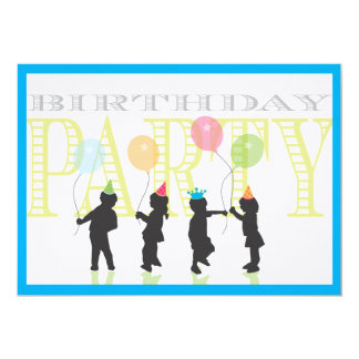 Convite do aniversário dos meninos - azul