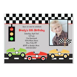 Convite do aniversário dos meninos de Racecar